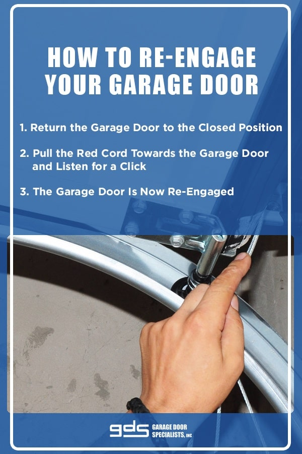 How To Disengage And Reengage Your Garage Door Video